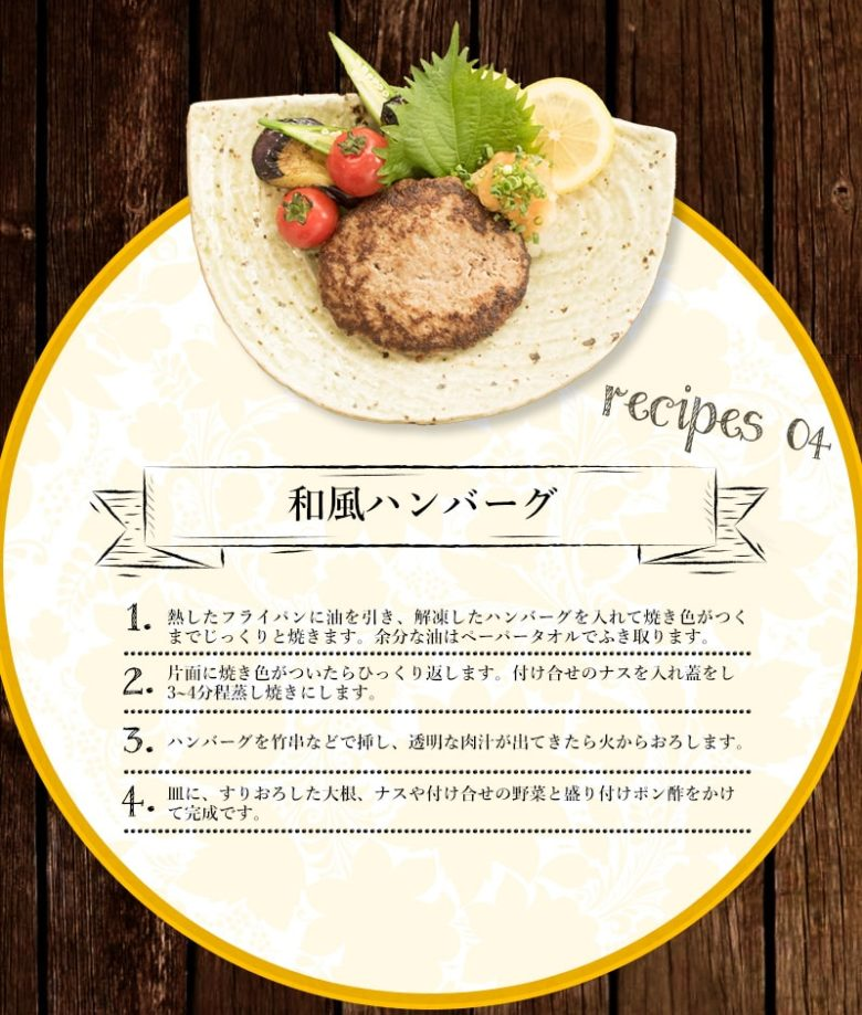 和風ハンバーグのレシピ