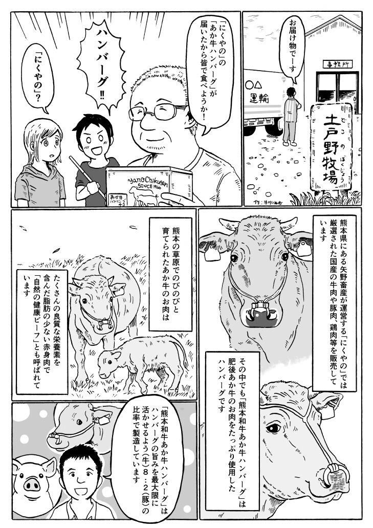熊本あか牛ハンバーグPR漫画01