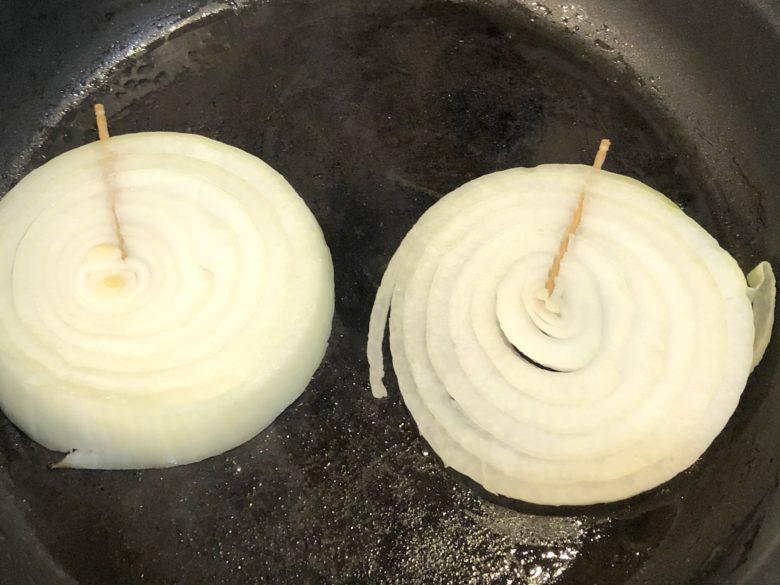 玉ねぎの焼き方