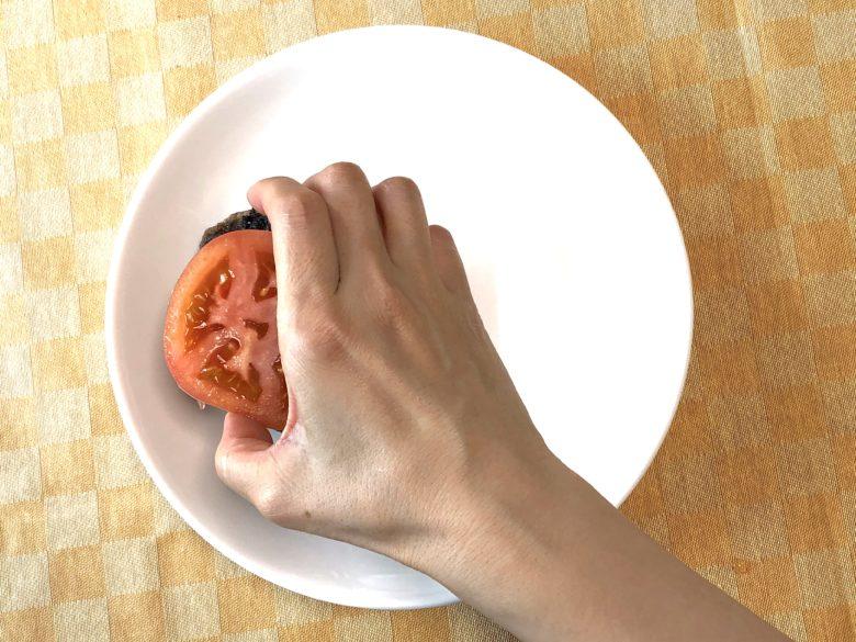 アボカドハンバーグの盛り付け方